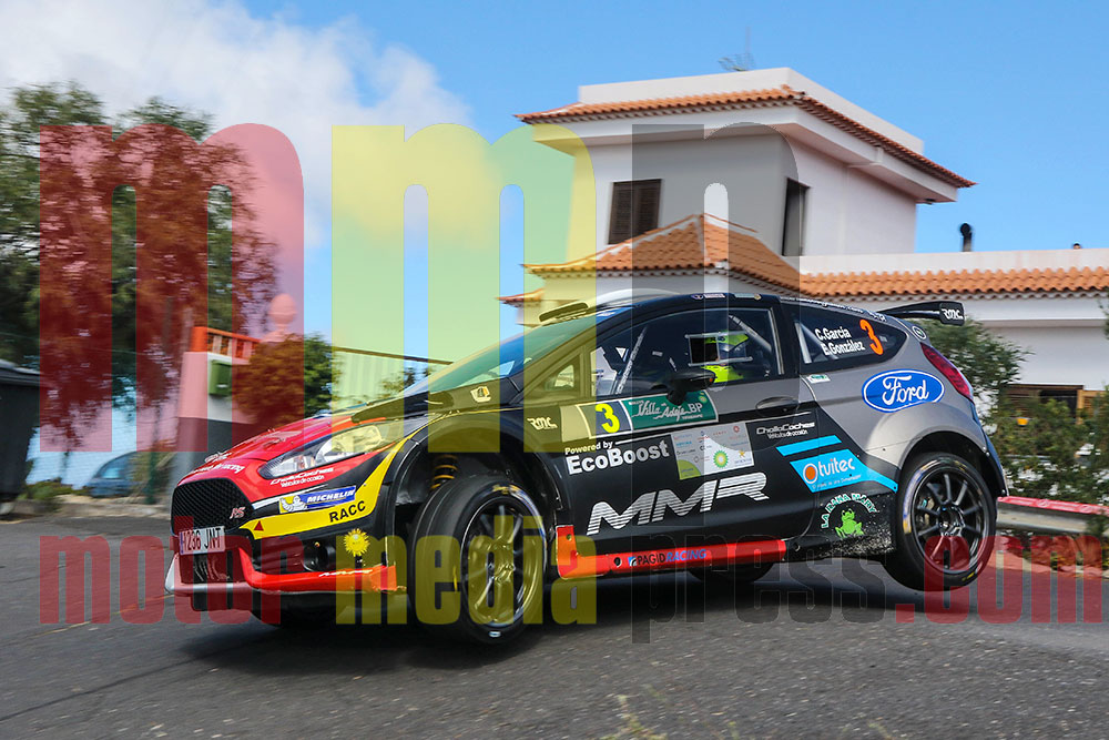Crisitán García en el Rallye de Adeje