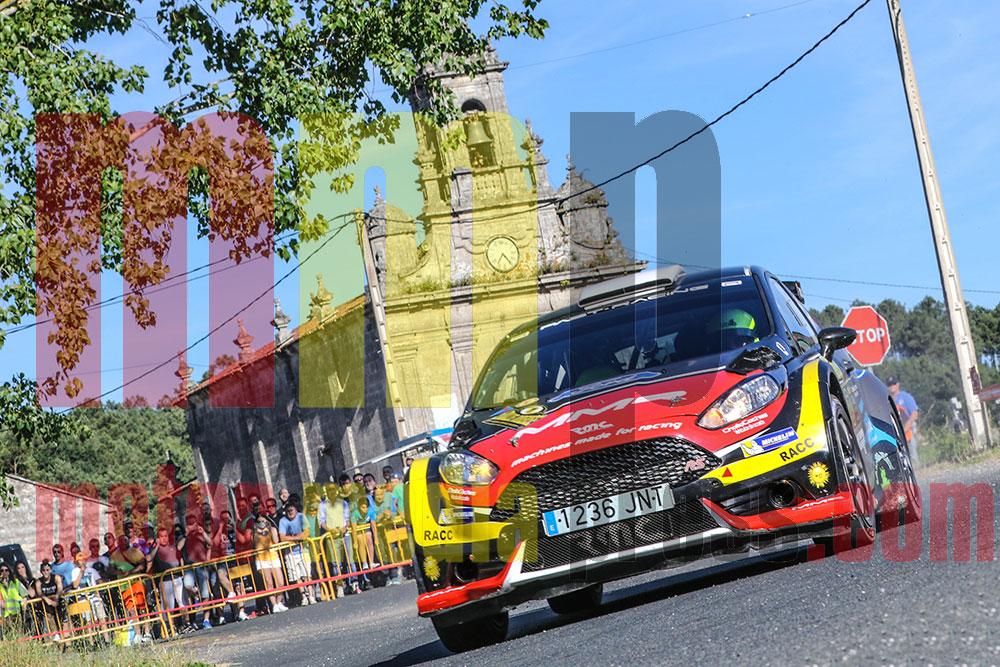 Cristián García en el Rallye de Ourense