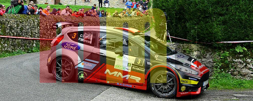 Christián García en el Rallye de Llanes