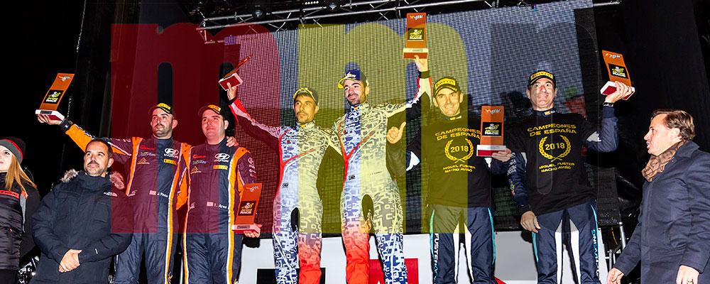 Podio del Rallye Comunidad de Madrid