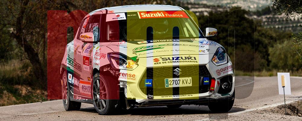 Óscar Sarabia se proclamaba Campeón de la Copa Suzuki Swift en un complicado Rallye de La Nucía