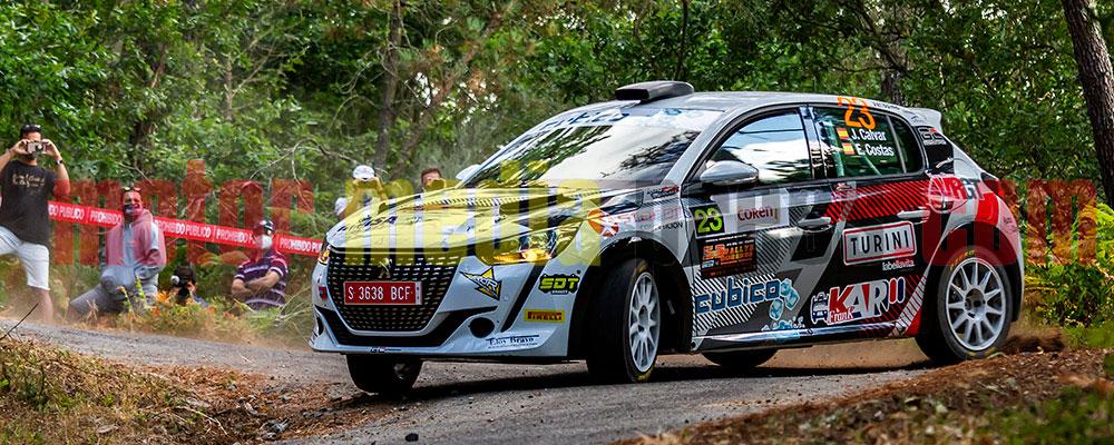 José Calvar fue rápido con el Peugeot 208 Rallye 4