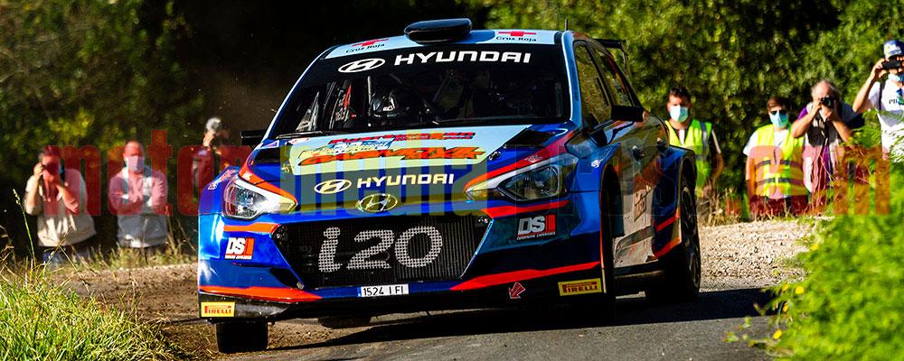 Surhayen Pernía sufría mucho en este Rallye de Ferrol