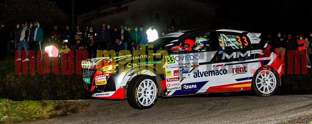 Alejandro Cachón dominaba en Dos Ruedas Motrices, la Peugeot Rallye Cup, y la Beca Júnior R2