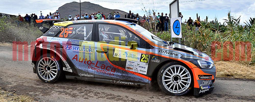 Yeray Lemes rodaba muy rápido en los primeros compases del rallye